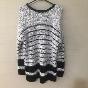 Calvin Klein Eyelash Knit Fuzzy Sweater SZ M